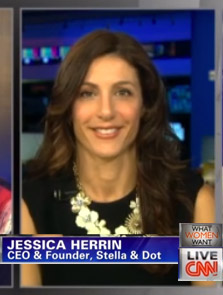 "Jessica Herrin featured in a CNN ""What Women Want"" special"