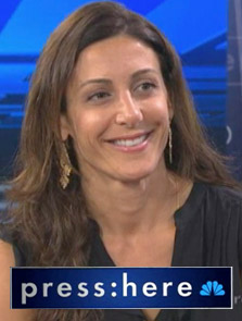 Jessica Herrin, founder and CEO of Stella & Dot on NBC's press:here