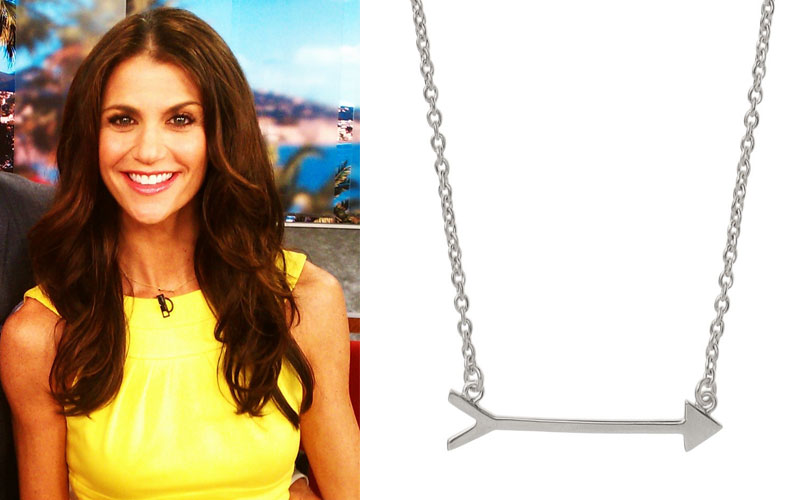 Samantha Harris wearing the On the Mark Necklace in silver