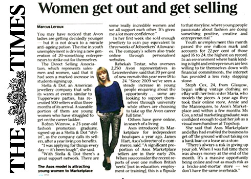 """The Times - 3/1/2012 """"Woman go out and get selling"""""""