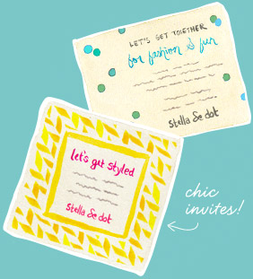 Stella and dot customizable invitations party for Stella and dot invitation templates